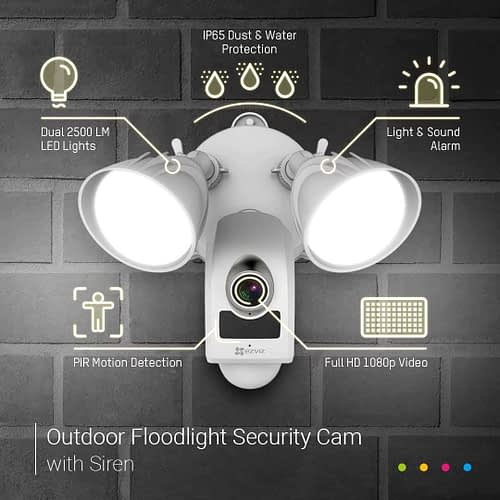 EZVIZ LC1 Floodlight Security Camera 2