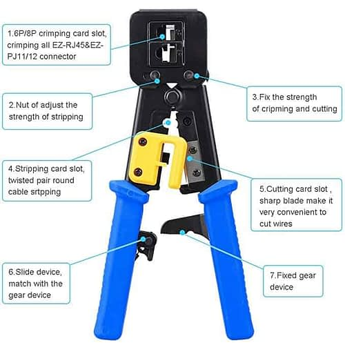 RJ45 Crimp Tool Crimps & Cuts 1